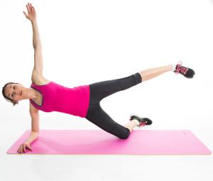 Side arm balance leg lifts