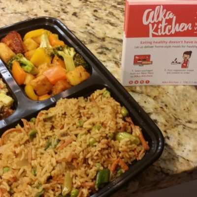 A healthy meal from Alka Kitchen