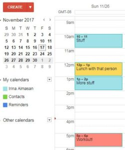 Commitment to exercise - scheduling